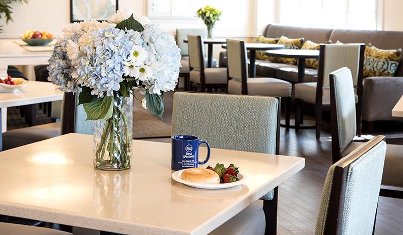 Complimentary Breakfast At Best Western Sea Island Inn Beaufort South Carolina
