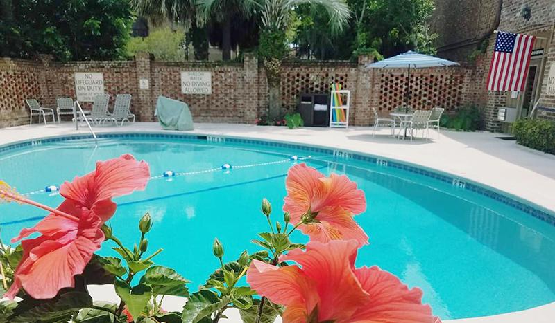 Outdoor Pool At Best Western Sea Island Inn Beaufort South Carolina