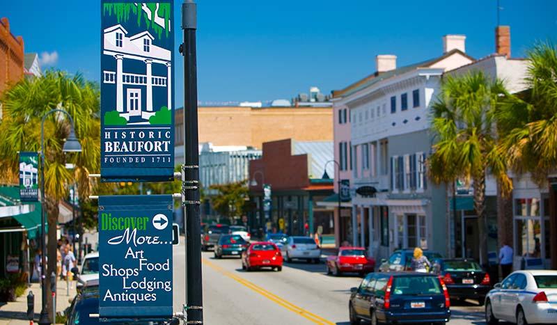 Beaufort Town Center Art Galleries & Shopping South Carolina