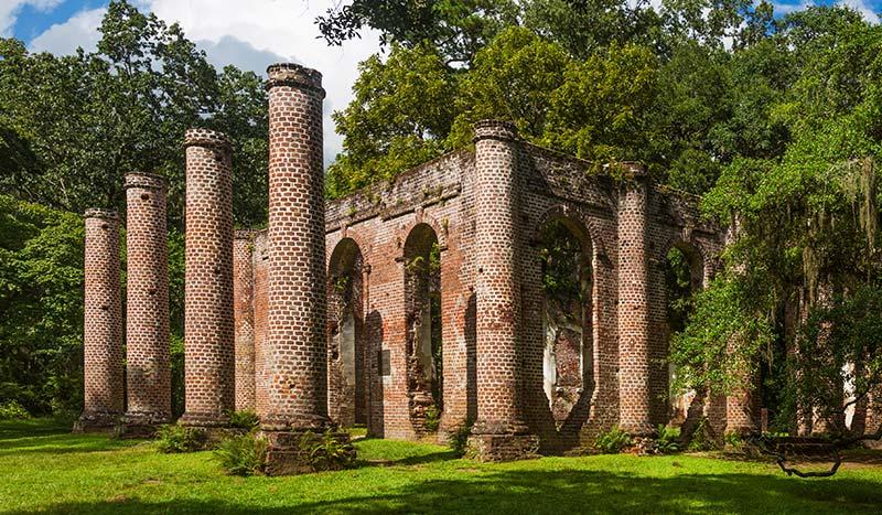 Prince William's Parish Church Beaufort History South Carolina